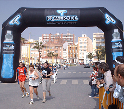 Arco hinchable de llegada powerade