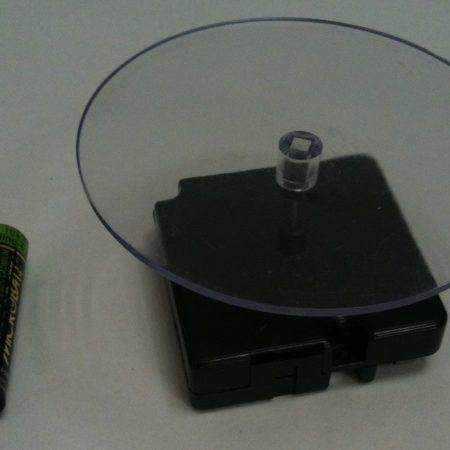 plato giratorio base transparente para promocion en punto de venta