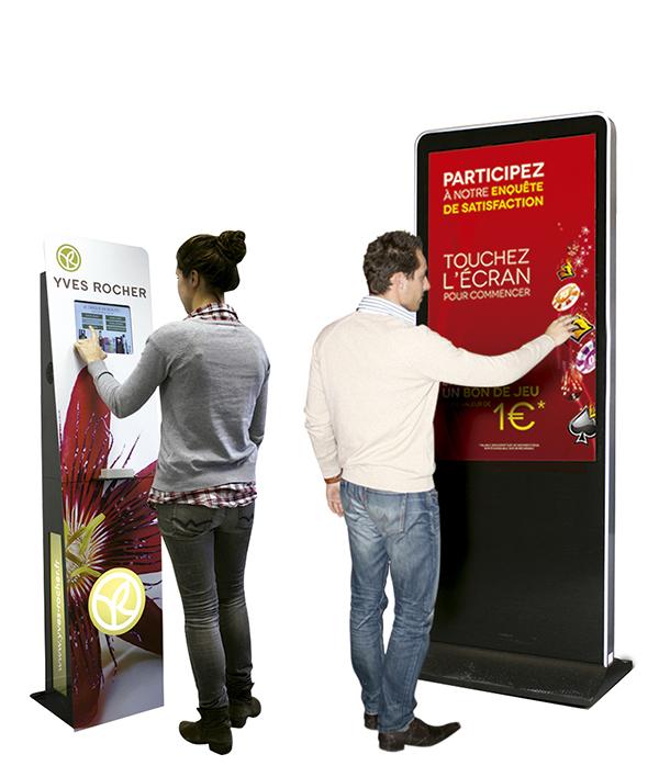terminales interactivos y plv marketing